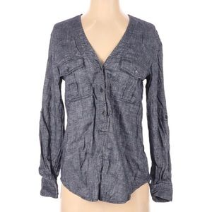 Theory Long Sleeve Button Down Shirt S
